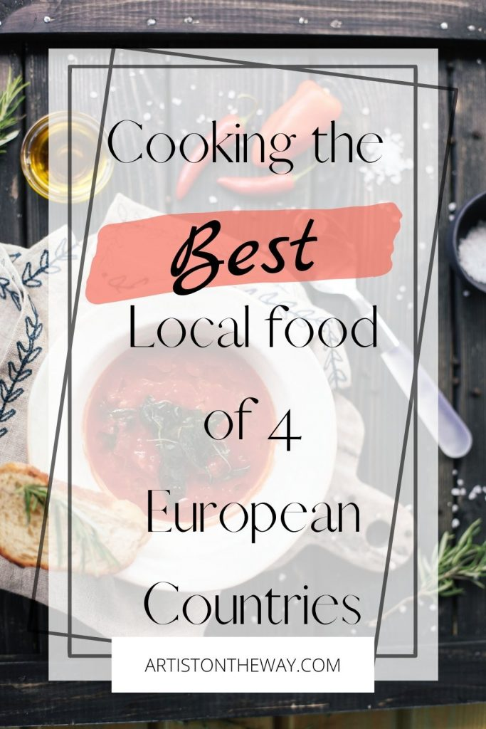 Local food of 4 European countries