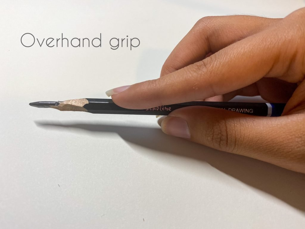 Drawing tips for beginners-overhand grip