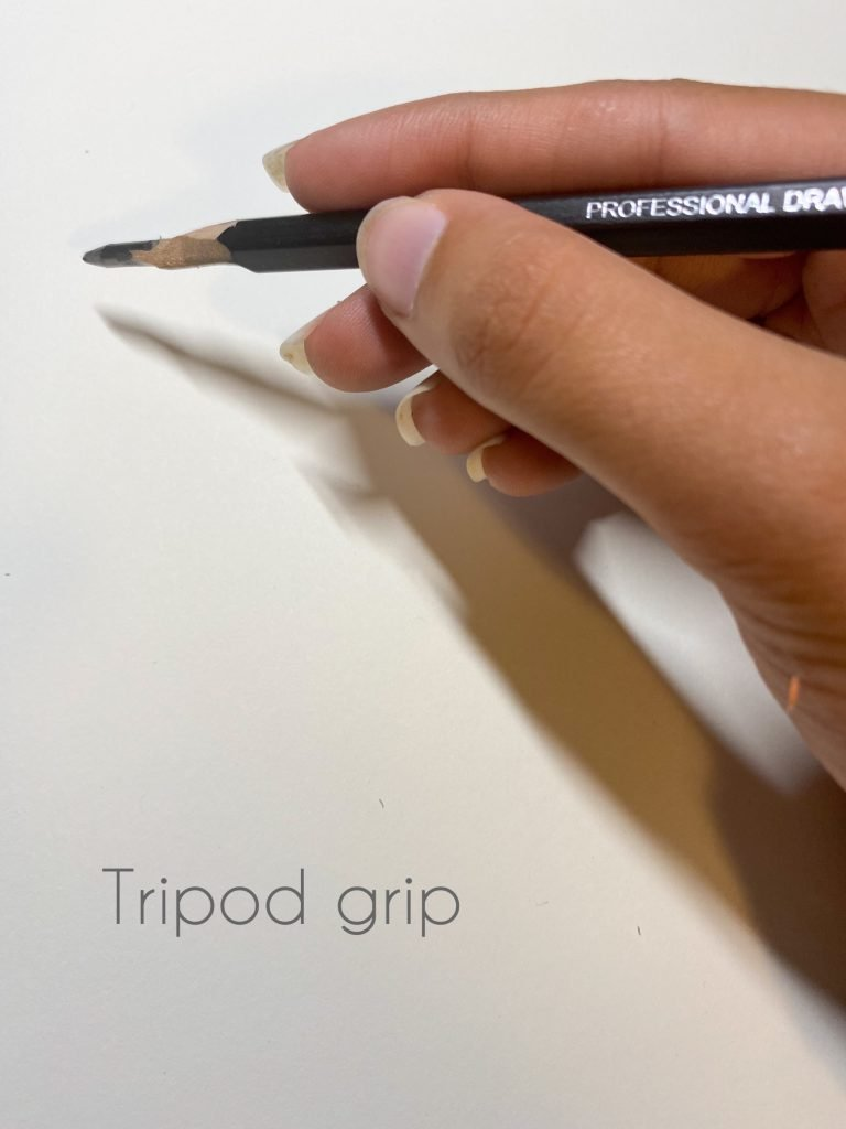 Drawing tips for beginners-Tripod grip