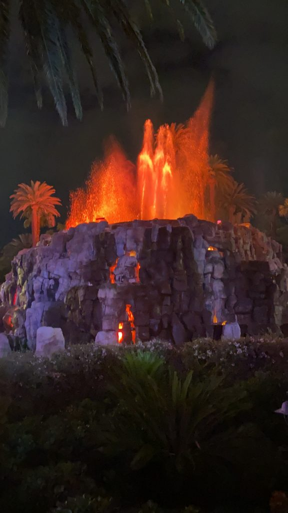 7.The Volcano at The Mirage- free attractions in las vegas